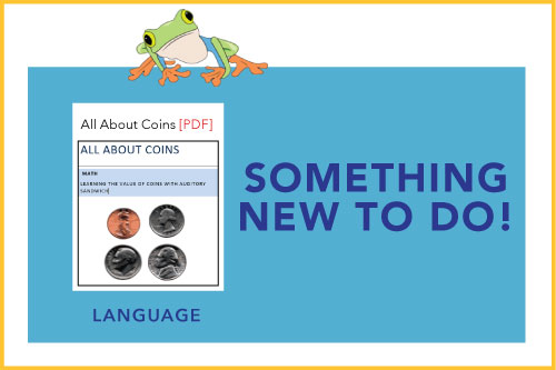 Something New To Do! Indicating a new material is available: All About Coins