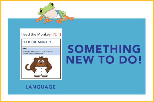 Something New To Do! Indicating a new material is available: Feed the Monkey
