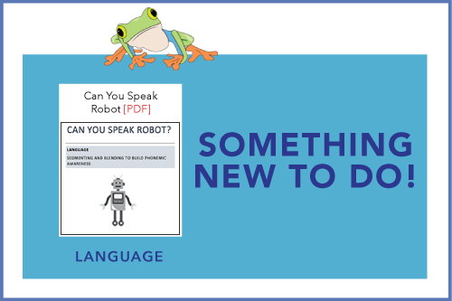 Something New To Do! Can You Speak Robot?