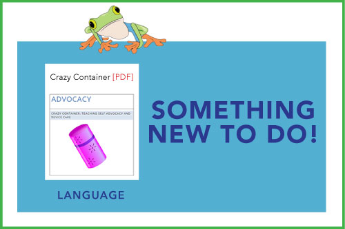 Something New To Do! Indicating a new material is available: Crazy Container